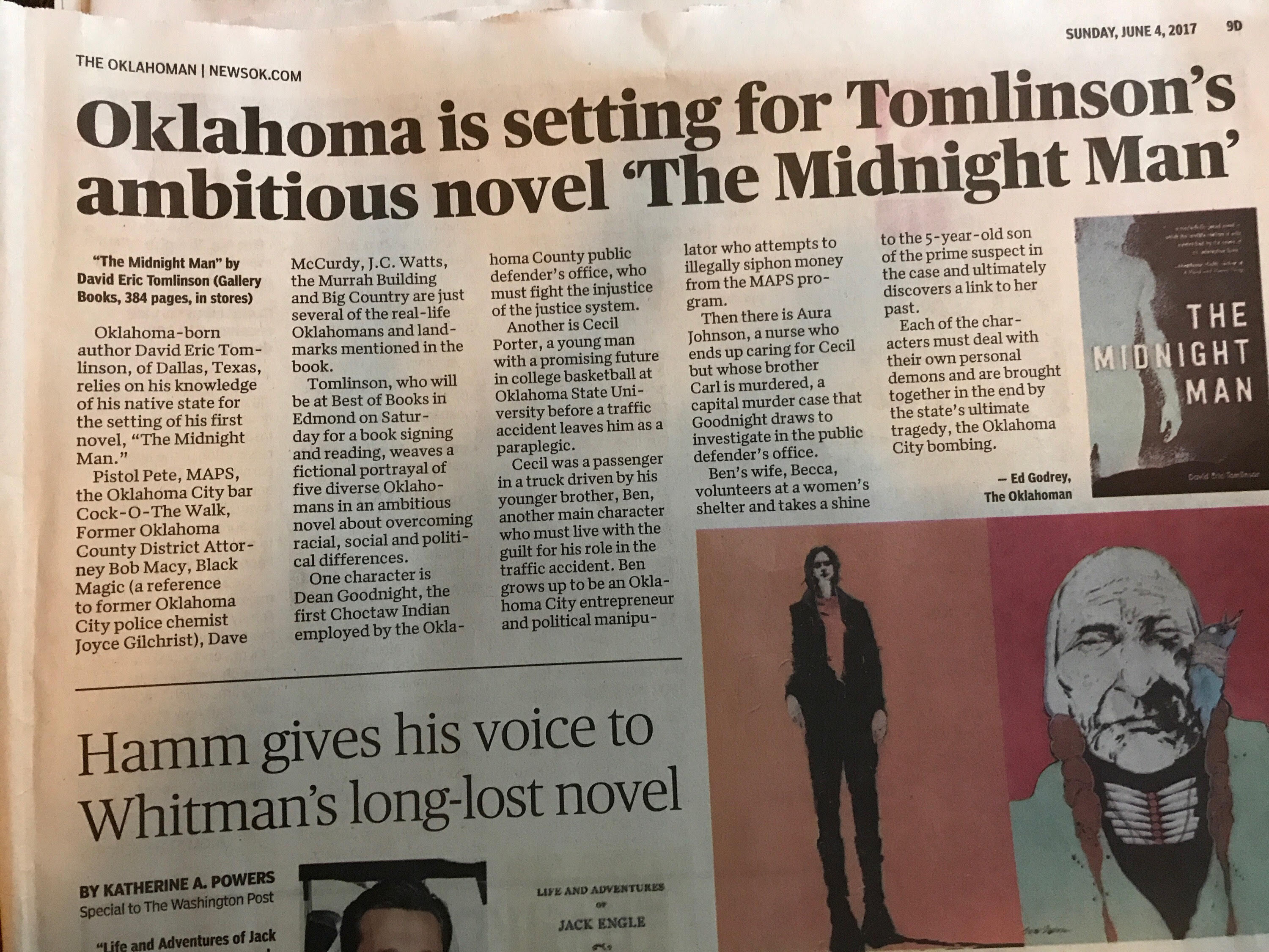 The Oklahoman Reviews THE MIDNIGHT MAN